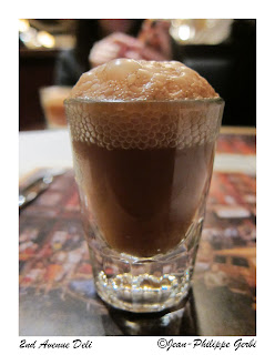 Image of Bosco chocolate soda at Second 2nd Avenue deli in NYC, New York
