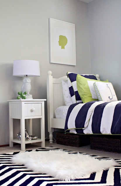 Color crush navy green driven by decor for Blue and green boys bedroom ideas