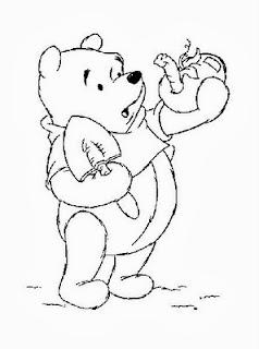 desenho do ursinho pooh para pintar