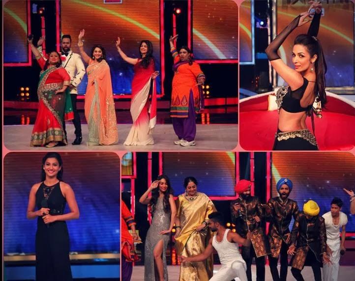 Stills of Celebrities on India's Got Talent stage