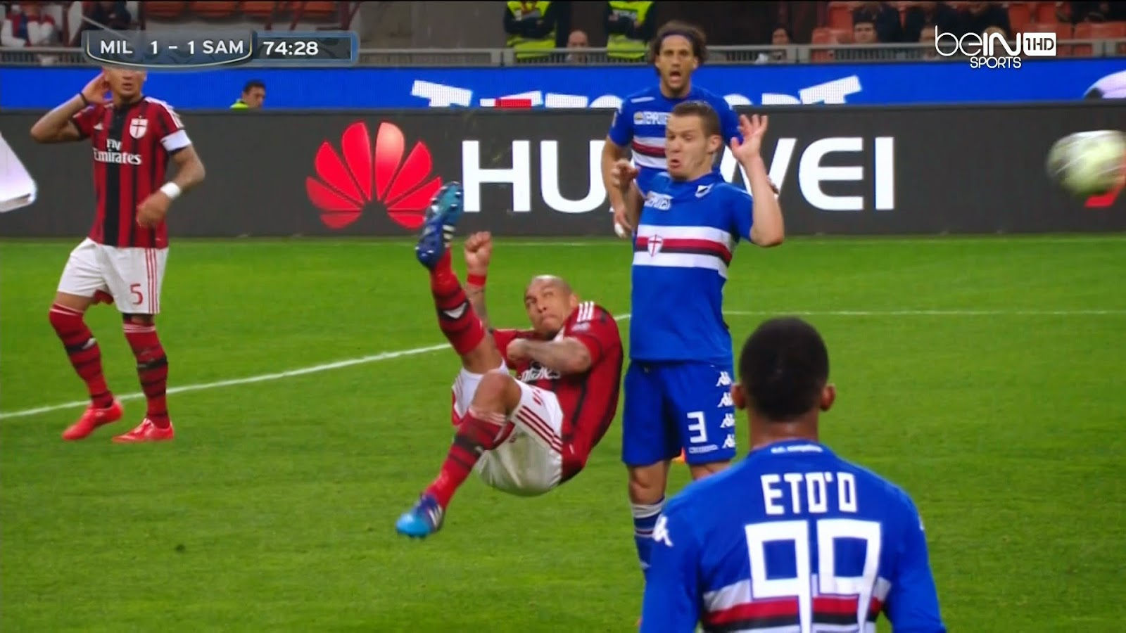 KOLEKSIKOMIK853 : AC MIlan vs Sampdoria Berakhir Hasil Imbang ( 1 - 1 )