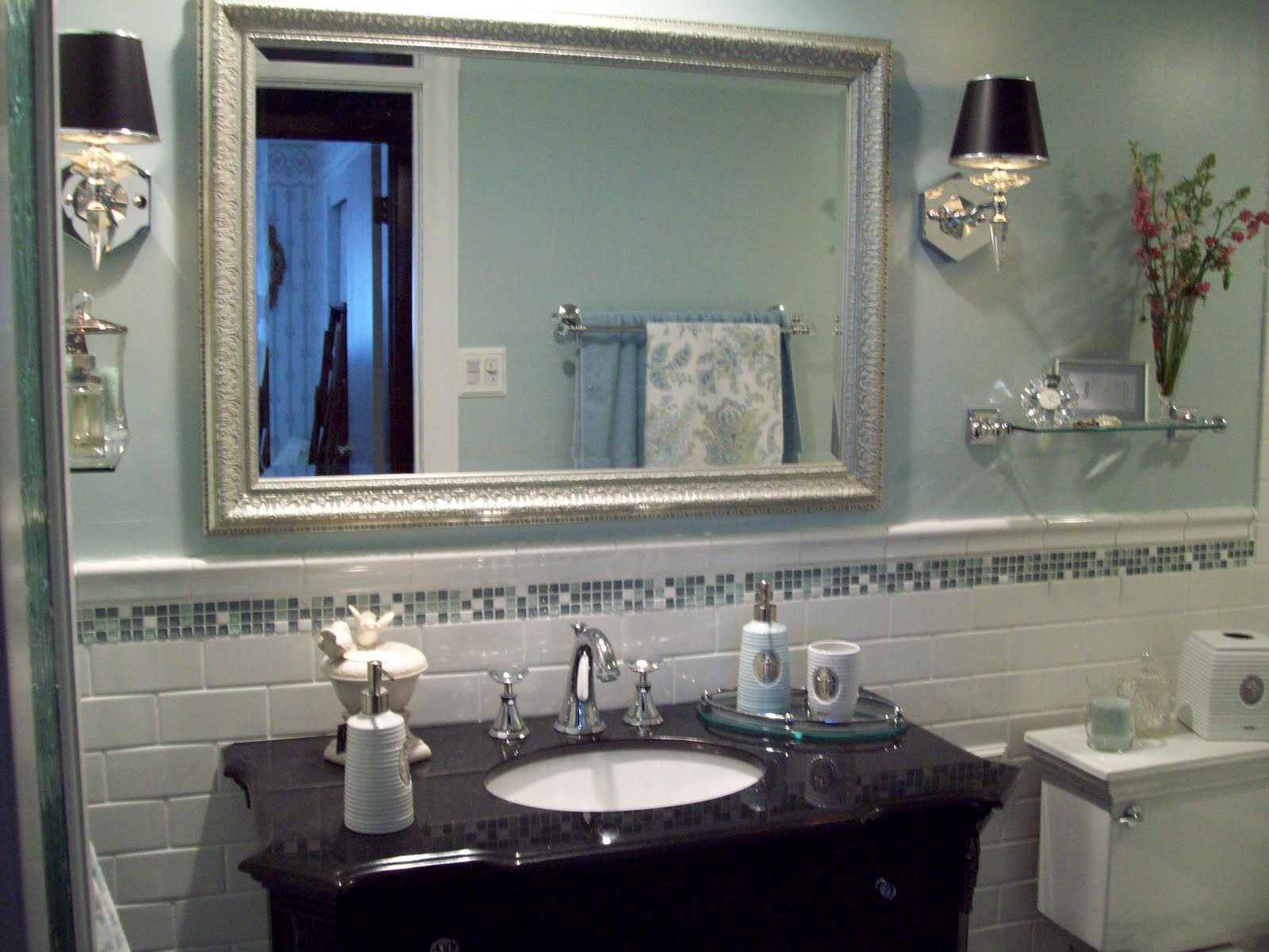 General splendour happy birthday bathroom one year ago - Traditional bathroom mirror with lights ...