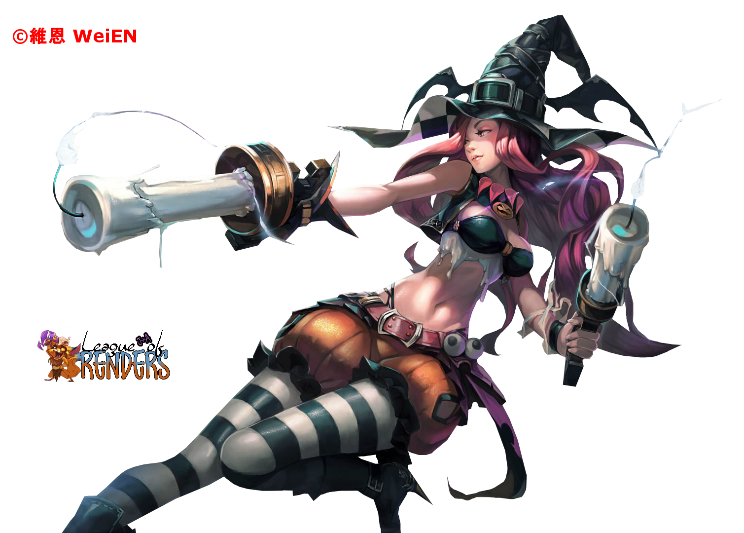 RENDER-FANART Miss Fortune Witch
