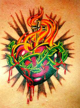 Sacred Heart Tattoo Design Picture Gallery   Sacred Heart Tattoo Ideas