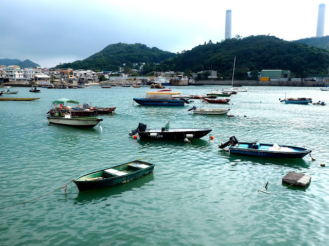 Fishing boats in the harbour at Yung Shue Wan, Lamma Island, Hong Kong