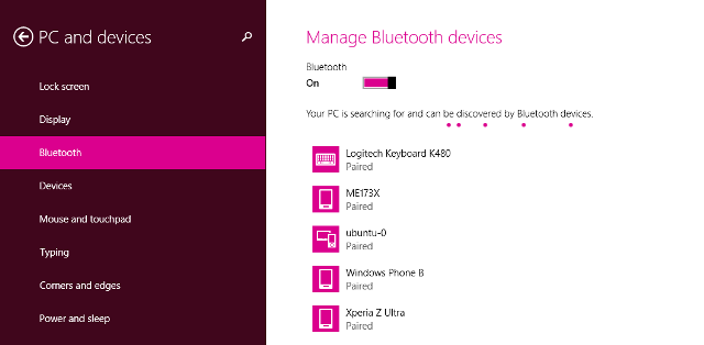 how to add bluetooth device in windows 8