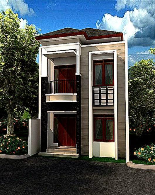 desain rumah lantai 2 tampak depan  Gambar Rumah Minimalis