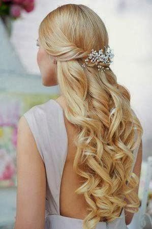 pretty bridal hair style