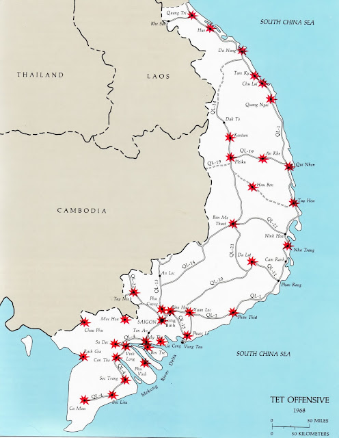 Tet Offensive map