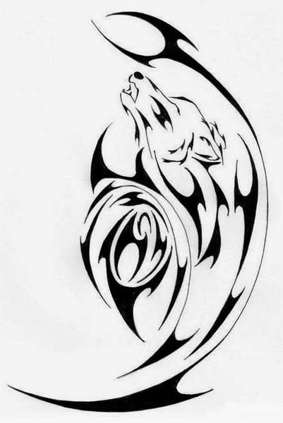 Best Tribal Wolf Tattoos (Gallery 2)