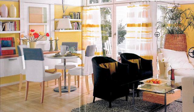 Carpinter a mesa de comedor abatible disimulada en la pared - Mesa abatible comedor ...