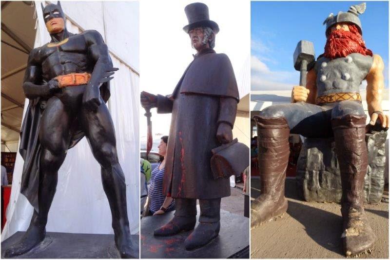 Semana Negra 2014 en Gijon. Personajes de ficción: Batman…