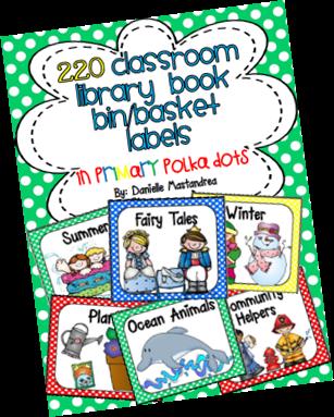 https://www.teacherspayteachers.com/Product/220-Classroom-Library-Book-Bin-Basket-Labels-Primary-Polka-Dots-728294