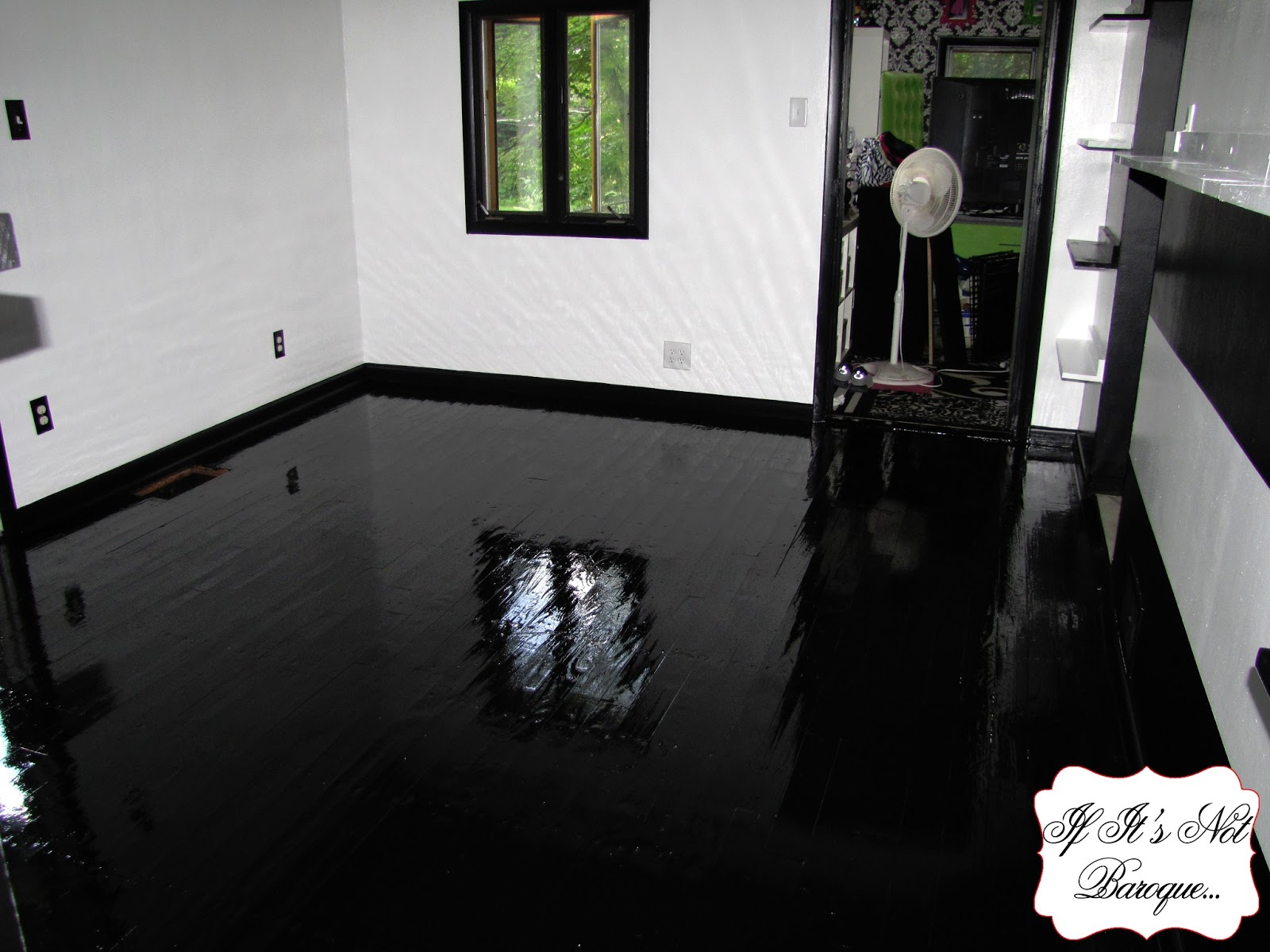 High Gloss Hardwood Floors Dark Brown Hairs