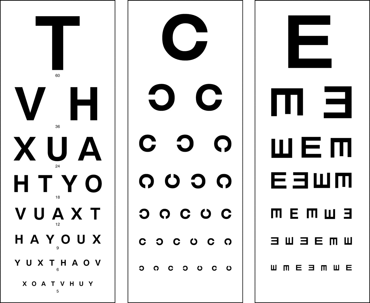 Essential steps in patients eye examination young doctors standard snells char nvjuhfo Image collections