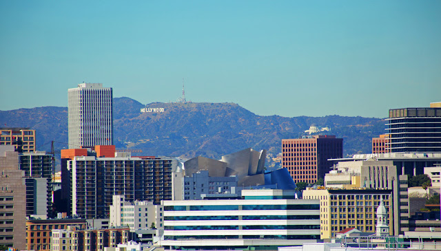 Photo of Hollywood sign as seen from the terrace