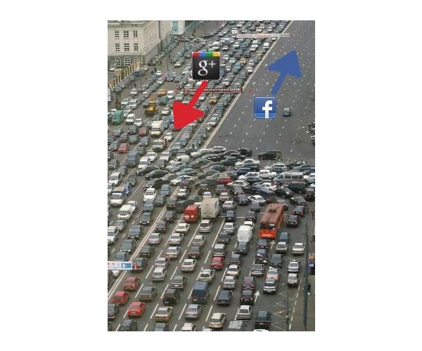 Google Plus Funny Images: Traffic Jam