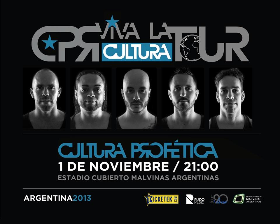 Cultura Profética vuelve a presentarse en Argentina en Noviembre