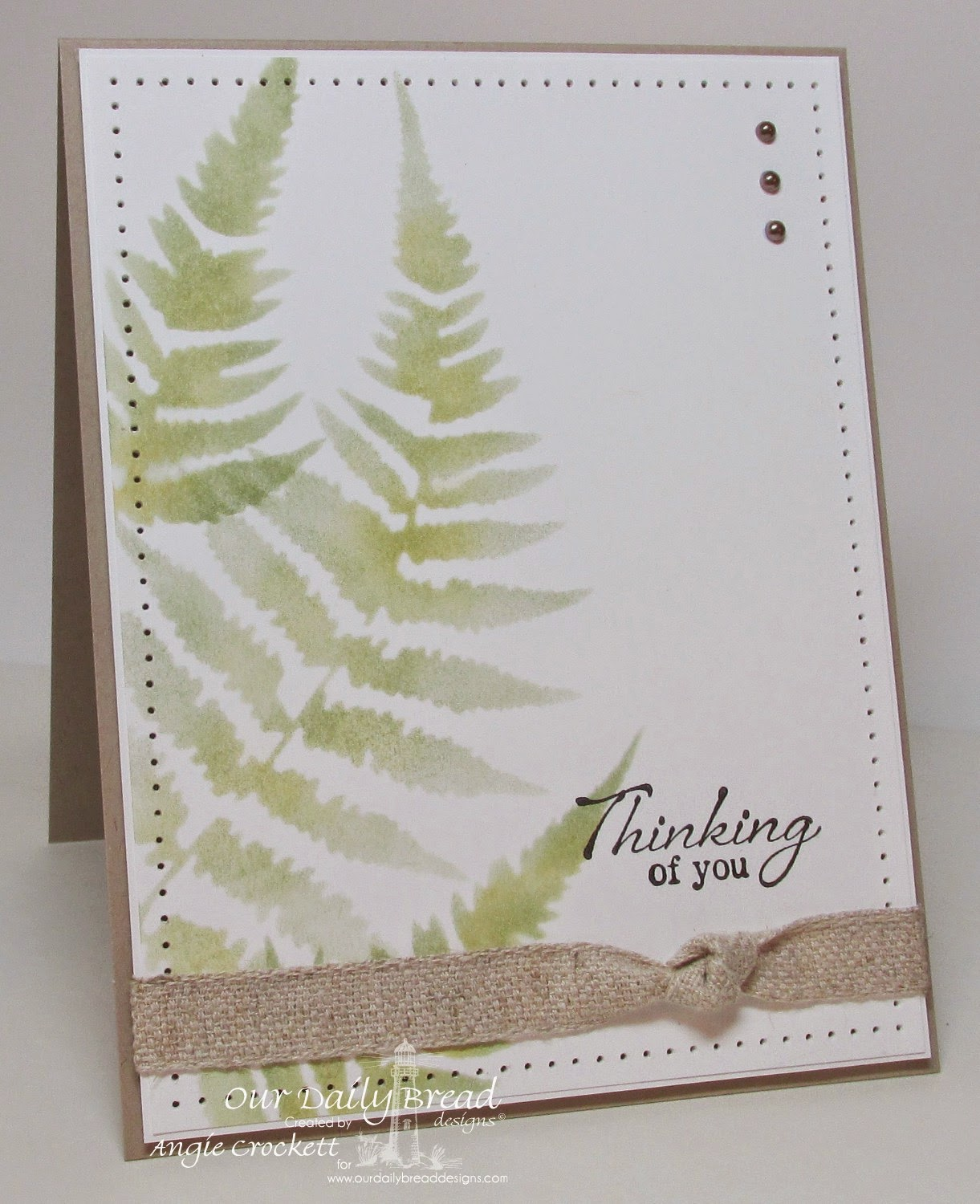 ODBD Anchor the Soul, Fern Stencil, Card Designer Angie Crockett