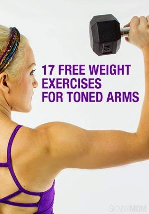 http://www.skinnymom.com/2014/03/25/17-free-weight-exercises-for-toned-arms/