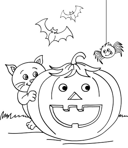 halloween prek coloring pages - photo#7