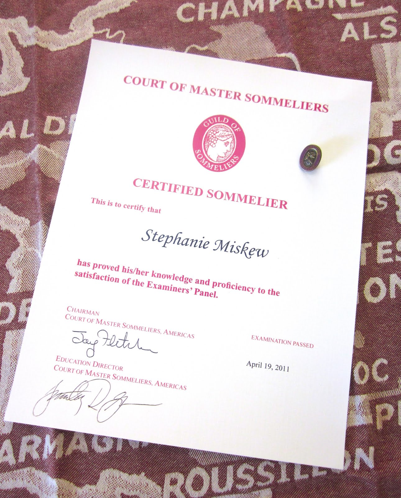 sommelier certified glamorous gourmet official