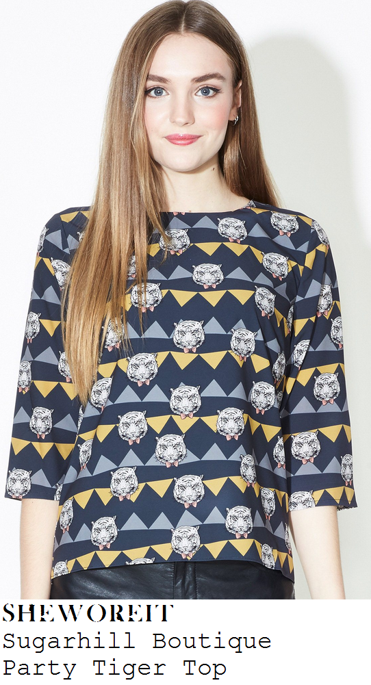 sam-faiers-multicoloured-tiger-and-triangle-print-three-quarter-sleeve-dipped-hem-top