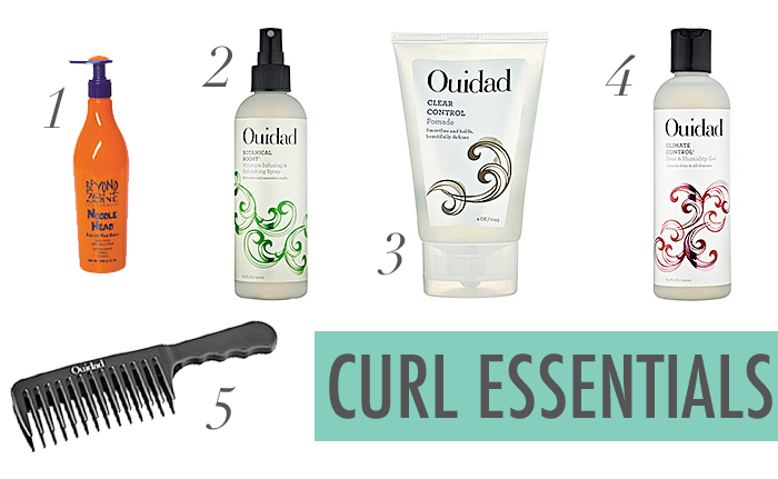 curly hair, Ouidad, Ouidad Botanical Boost Spray, Clear Control Pomade, Climate Control Heat and Humidity Gel, Beyond the Zone Noodle Head Cream, hair, tips for curly hair