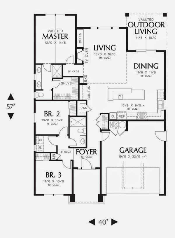 Planos de casas planos de casas medianas for Planos de casas medianas