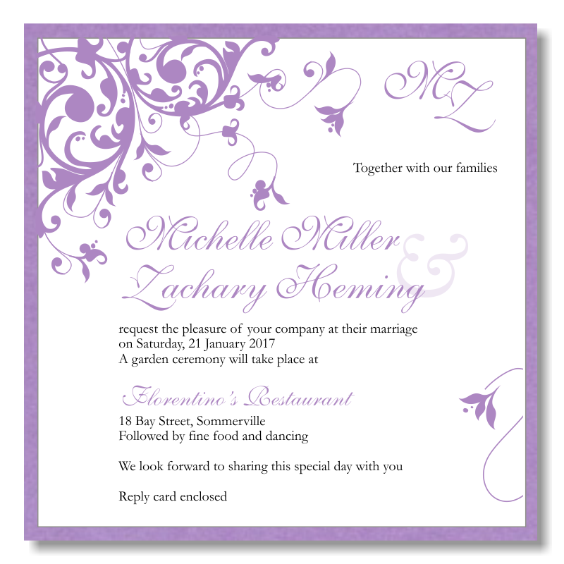 Simple Wedding Invitations Simple Wedding Invitations