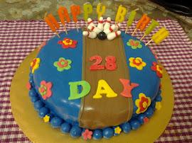 Choc Moist Cake Fondant Deco