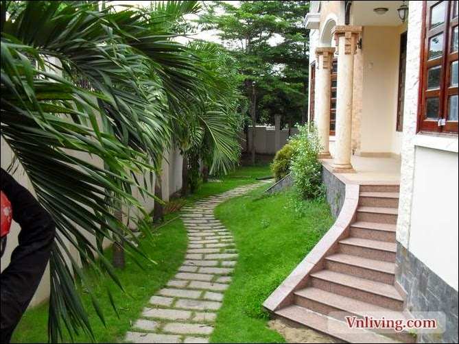 Villa Thao Dien for rent 5 bedrooms with part furniture