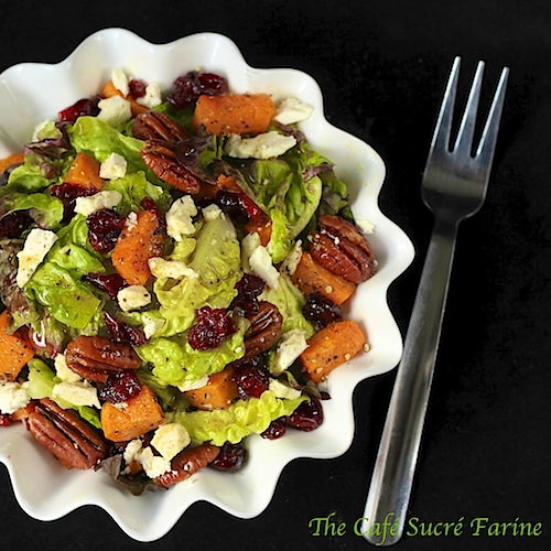 Roasted Sweet Potato and Cranberry Salad w/ Feta, Sea-Salted-Roasted ...