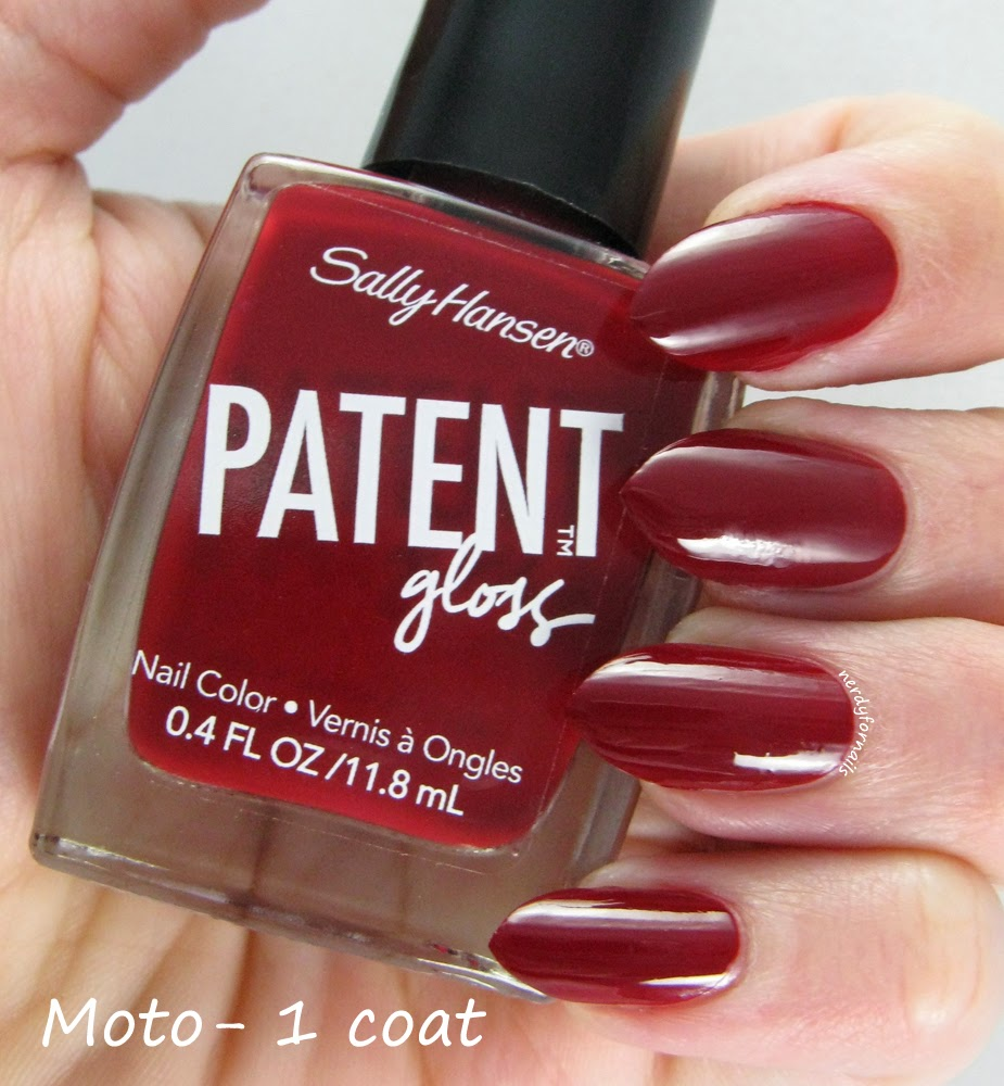 Nerdy for Nails: Sally Hansen Patent Gloss Review