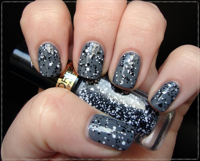l'oreal black and white glitter