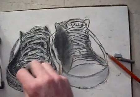 How to draw Converse All-Stars - Low Rise