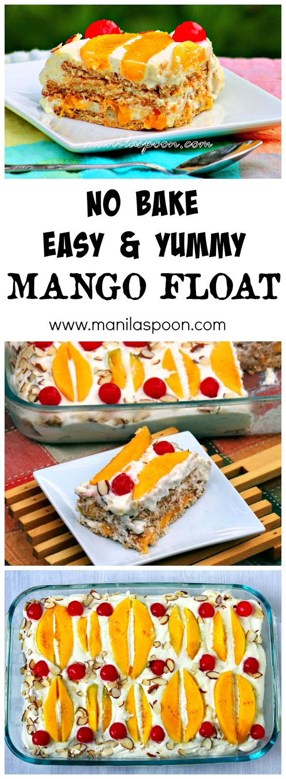 Extra Special Mango Float Manila Spoon How To Cut