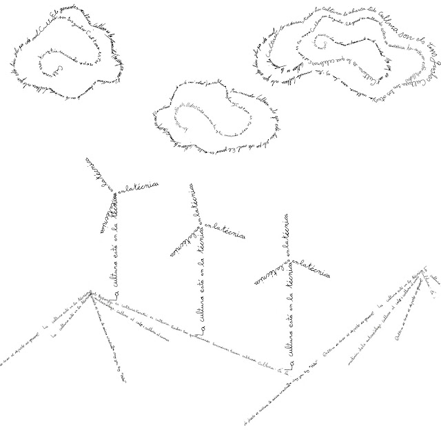 escrito, aire, nubes, molinos, viento, caligramas