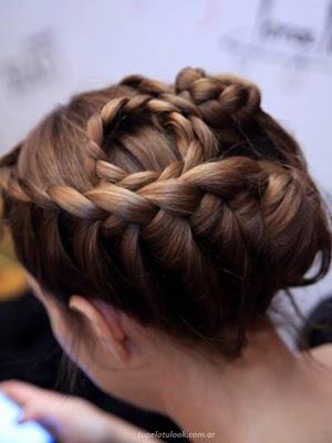 peinados 2014 con trenzas_