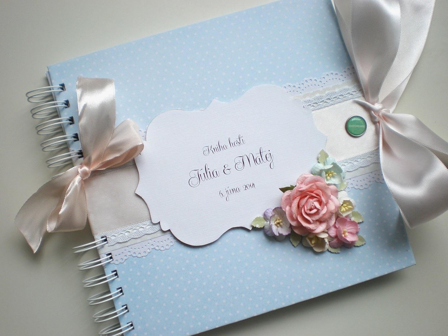Kniha hostí pastelová II. / Pastel wedding book II.