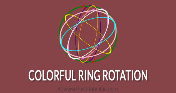 Colorful ring rotation