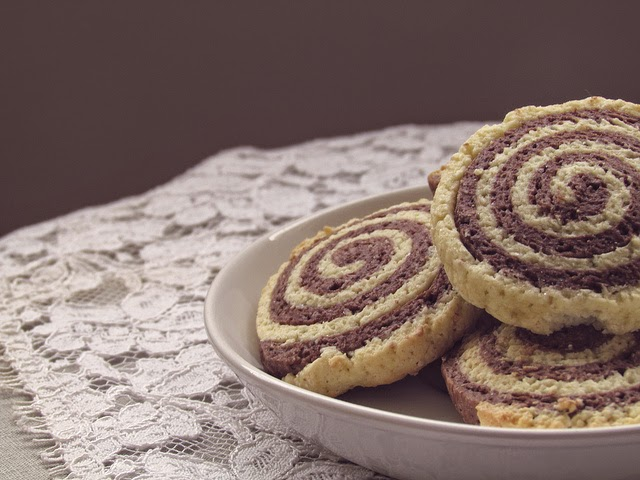 Healthy Chocolate Pinwheel Cookies | Becky Cooks Lightly #cookies