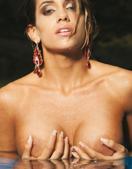 Leonela Ahumada is naked chick on fire in Playboy Argentina