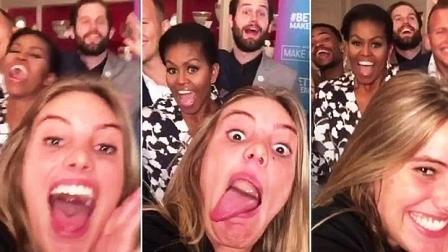 Como una de las estrellas femenina de Vine, fue recibida por Michelle Obama en la Casa Blanca. Lele fue la encargada de disparar el selfie con la Primera Dama.