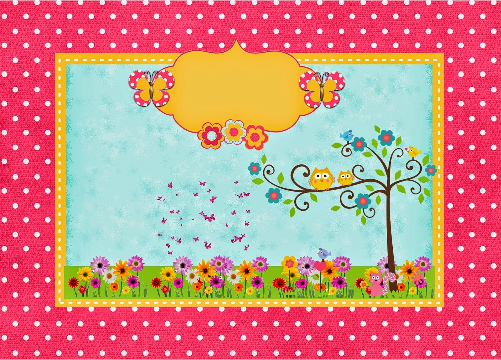 free printable owl and butterflies kit oh my fiesta for ladies