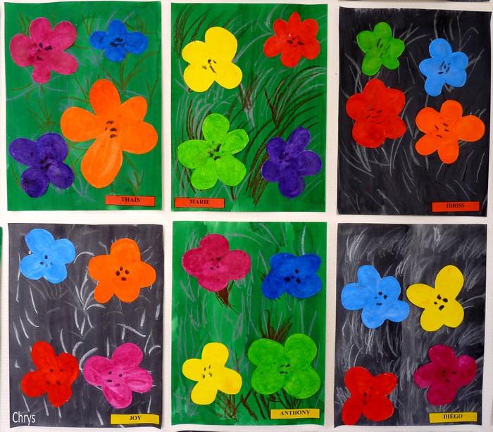 Le journal de chrys andy warhol en maternelle - Fleurs printemps maternelle ...