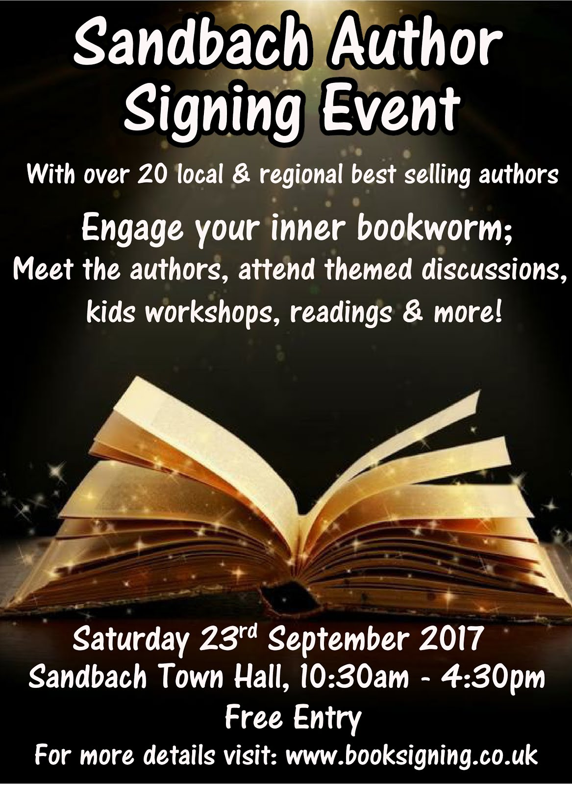 Sandbach Author Signing Event