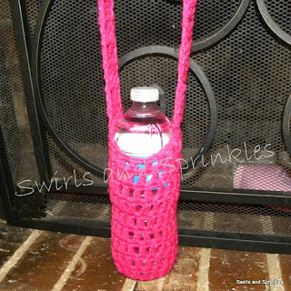 Swirls and Sprinkles: Free crochet water bottle kozie pattern