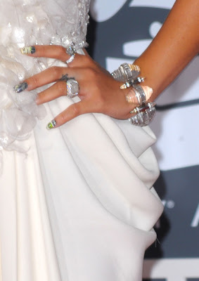 Rihanna Gemstone Cuff Bracelet