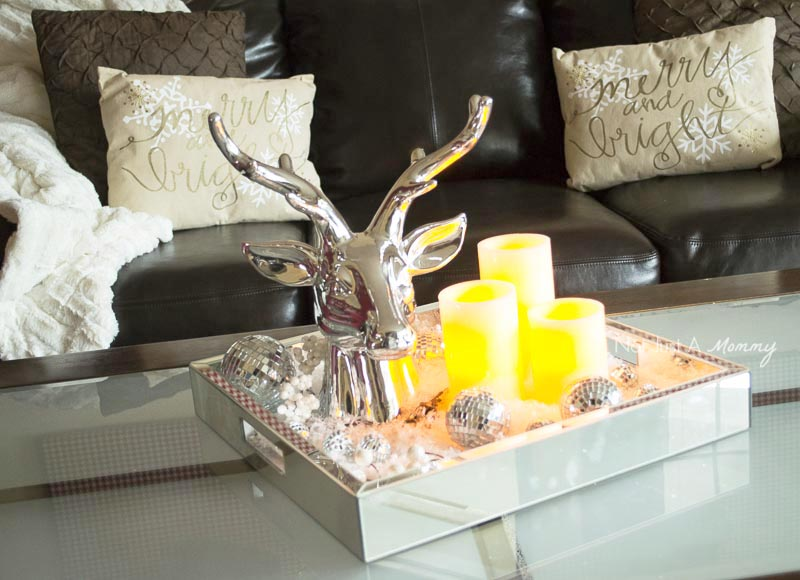 How To Decorate Your Home For The Holidays With Big Lots; use flameless candles for holiday ambiance